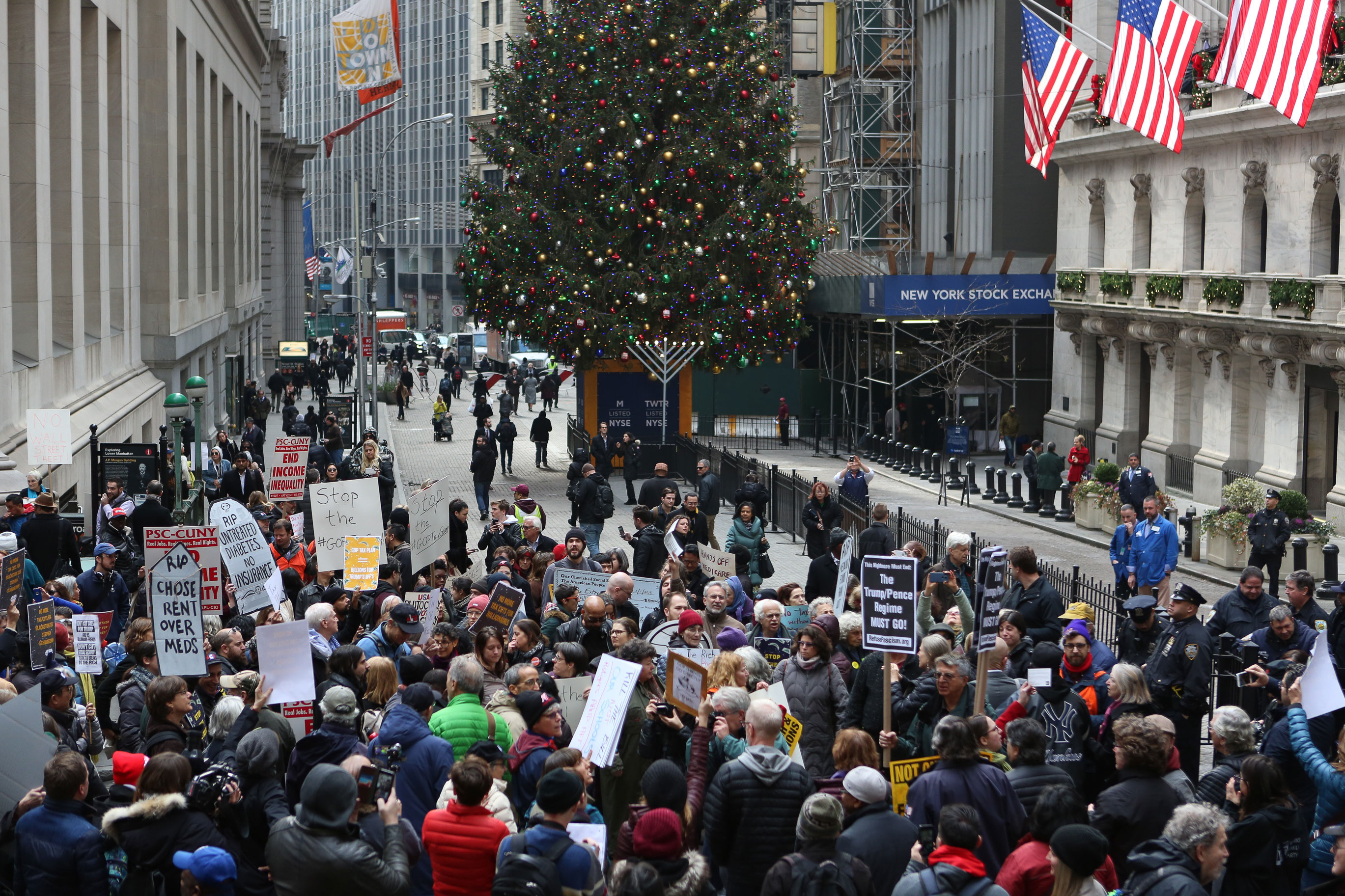 Hundreds Stage Die-In to Protest Wall Street Funders behind