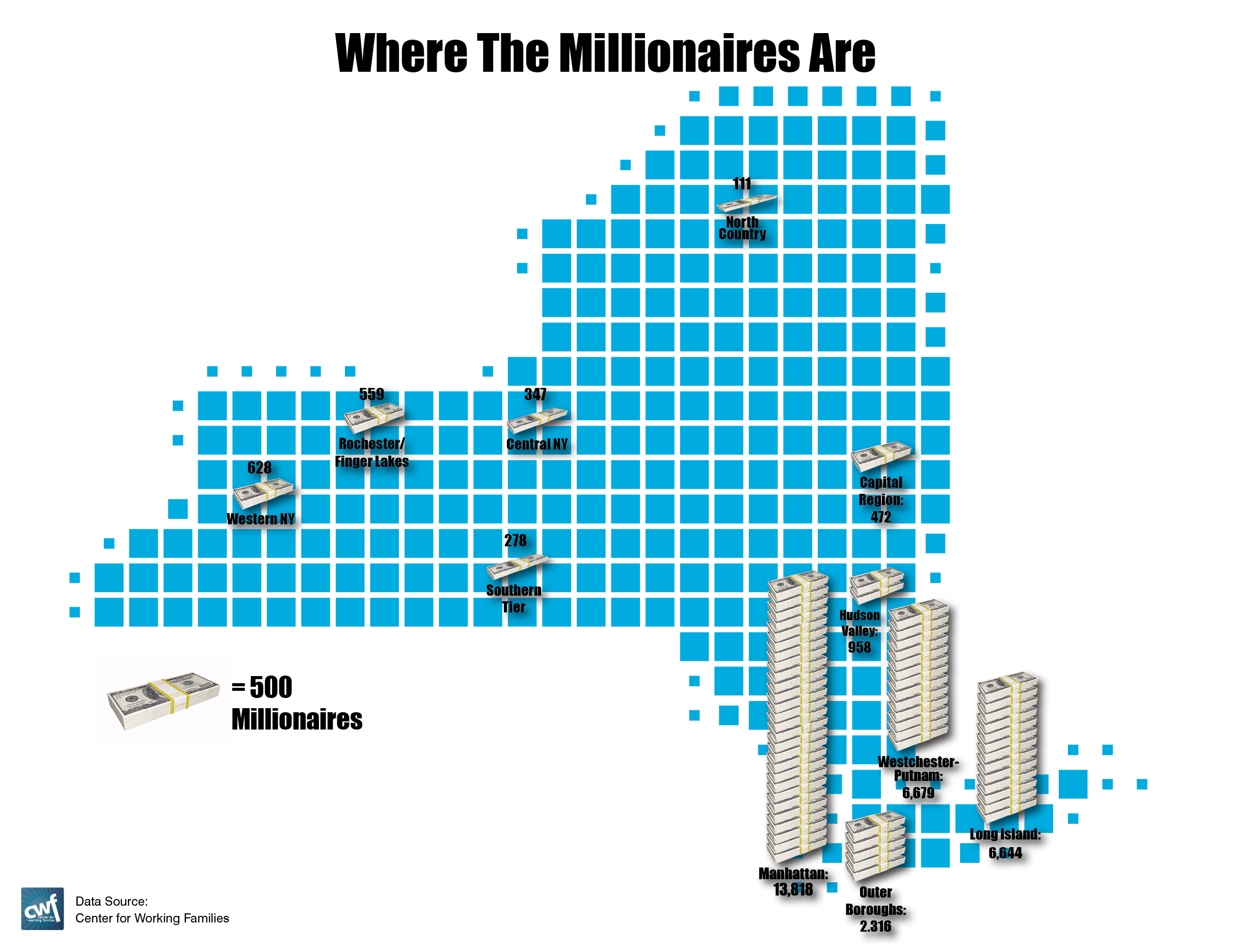 Where Millionaires Live And Where They Dont PSC CUNY - Us counties with most millionaires