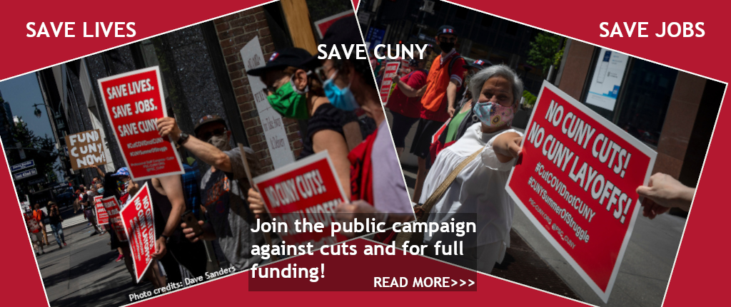 Save Jobs! Save Lives! Save CUNY!
