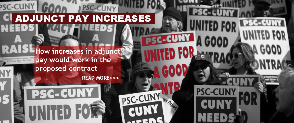 Adjunct Pay Increases