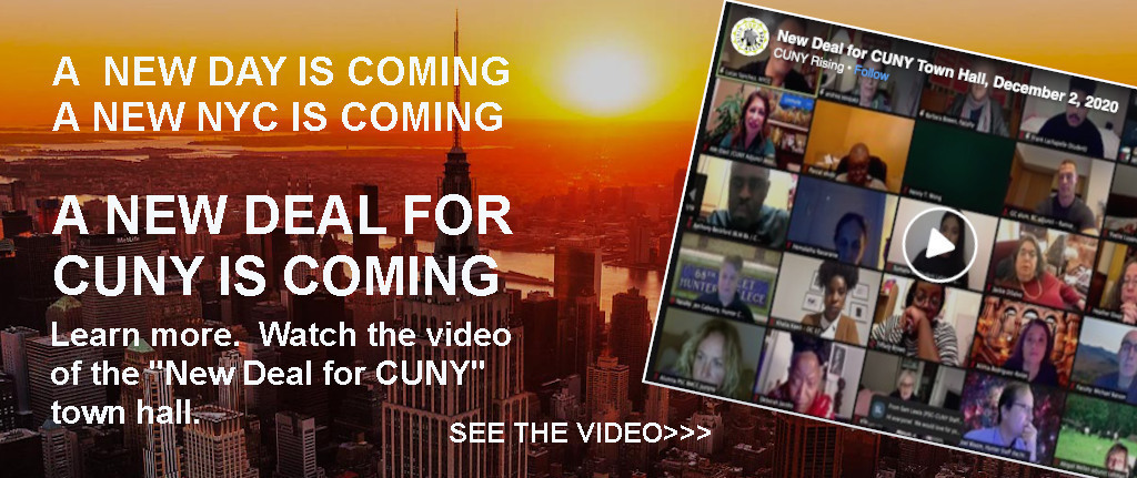 Watch the New Deal for CUNY town hall